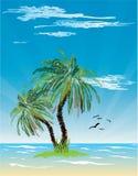 Vista sul mare tropicale   Illustrazione di Stock