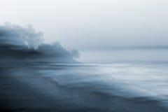 Vista sul mare vaga moto Fotografia Stock Libera da Diritti