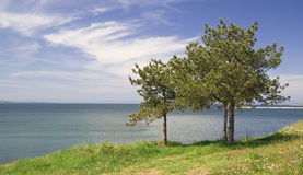 Vista sul mare variopinta Fotografia Stock Libera da Diritti