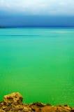 Vista sul mare verde Fotografia Stock Libera da Diritti