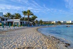 Vista sul mare Vista sulla spiaggia della città Ayia Napa cyprus Immagini Stock Libere da Diritti