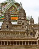 Vista sul modello di Angkor Wat dentro il tempio di Emerald Buddha o di Wat Phra Kaew, grande palazzo, Bangkok Fotografia Stock Libera da Diritti