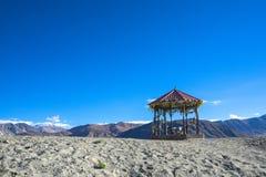 Vista sul moring, Ladakh, India del lago Pangong fotografia stock libera da diritti