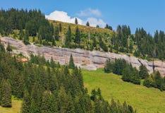 Vista sul Mt Rigi in Svizzera di estate Fotografia Stock Libera da Diritti