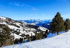 Vista sul Mt Rigi in Svizzera nell'inverno Fotografia Stock