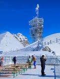 Vista sul Mt Titlis in Svizzera Immagini Stock