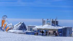 Vista sul Mt Titlis in Svizzera Immagine Stock Libera da Diritti