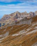 Vista sul Mt Titlis in Svizzera nell'inverno Fotografie Stock