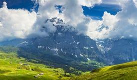 Vista sul paesaggio della montagna della Svizzera Fotografia Stock