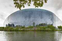 Vista sul Parlamento Europeo Fotografie Stock