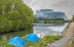 Vista sul Parlamento Europeo Fotografia Stock Libera da Diritti
