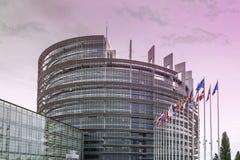 Vista sul Parlamento Europeo Immagini Stock