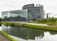 Vista sul Parlamento Europeo Immagini Stock Libere da Diritti