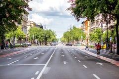 Vista sul quadrato di Andrassy a Budapest fotografia stock libera da diritti