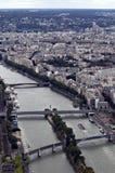 Vista sul Seine. La Francia Fotografie Stock
