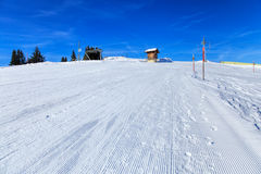 Vista sul supporto Rigi nelle alpi svizzere nell'inverno Fotografia Stock Libera da Diritti