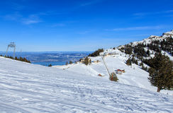 Vista sul supporto Rigi nelle alpi svizzere nell'inverno Immagine Stock Libera da Diritti