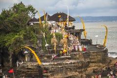 Vista sul tempio del lotto di Tanah, Bali fotografia stock libera da diritti