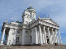 Vista sul tuomiokirkko di Helsingin della cattedrale di Helsinki in Finlandia Fotografia Stock Libera da Diritti