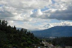 Vista sul vulcano cotopaxi Immagine Stock