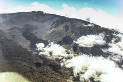 Vista sull'isola delle Hawai dal piccolo aeroplano Fotografie Stock Libere da Diritti