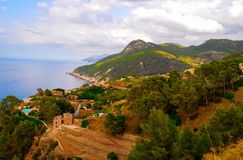 Vista sull'isola di Maiorca Fotografia Stock Libera da Diritti