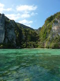 Vista sull'isola di Phi di Phi del KOH Fotografie Stock Libere da Diritti