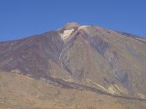 Vista sull'più alta montagna spagnola variopinta di volcano pico del teide Immagine Stock
