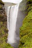 Vista sulla cascata di Skogafoss - Islanda Fotografia Stock Libera da Diritti