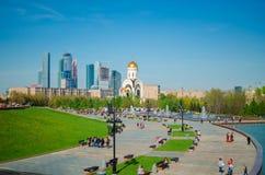 Vista sulla cattedrale a Mosca Fotografia Stock