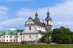 Vista sulla chiesa di skalka a Cracovia in Polonia Immagini Stock Libere da Diritti