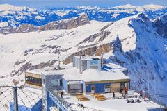 Vista sulla cima del Mt Titlis in Svizzera Fotografia Stock