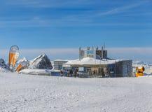 Vista sulla cima del Mt Titlis in Svizzera Fotografia Stock Libera da Diritti