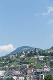Vista sulla città dello svizzero di Montreux Fotografia Stock