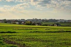 Vista sulla città di Tychy in Polonia Fotografia Stock Libera da Diritti