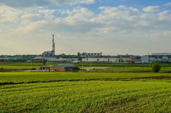 Vista sulla città di Tychy in Polonia Immagine Stock