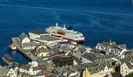 Città norvegese Alesund Immagini Stock Libere da Diritti