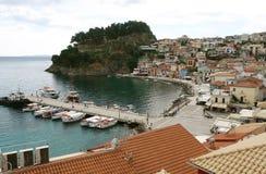 Vista sulla costa greca Fotografie Stock