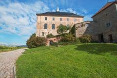 Vista sulla fortezza Oslo di Akershus immagini stock
