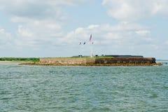 Vista sulla fortificazione Sumter Fotografia Stock Libera da Diritti