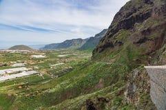 Vista sulla parte settentrionale dell'isola di Tenerife Fotografie Stock Libere da Diritti