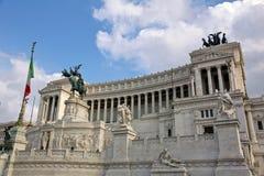 Vista sulla piazza Venezia a Roma Immagine Stock