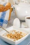 Vista sulla prima colazione fotografia stock libera da diritti