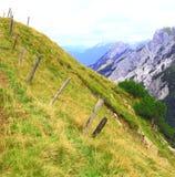 Vista sulla scena della montagna nelle montagne del karwendel delle alpi europee Fotografia Stock Libera da Diritti