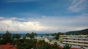 Vista sulla spiaggia Tailandia Phuket di Karon Fotografia Stock Libera da Diritti