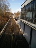 Vista sulla stazione della metropolitana immagine stock libera da diritti