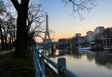 Vista sulla torre Eiffel Fotografia Stock Libera da Diritti