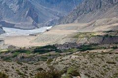 Vista sulla valle di Kali-Gandaki nel Nepal Himalaya Fotografia Stock Libera da Diritti