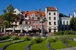 Vista sulla vecchia città di Riga Fotografia Stock Libera da Diritti