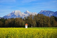 Vista sulle alpi di Kamnik Savinja, Slovenia Immagini Stock Libere da Diritti